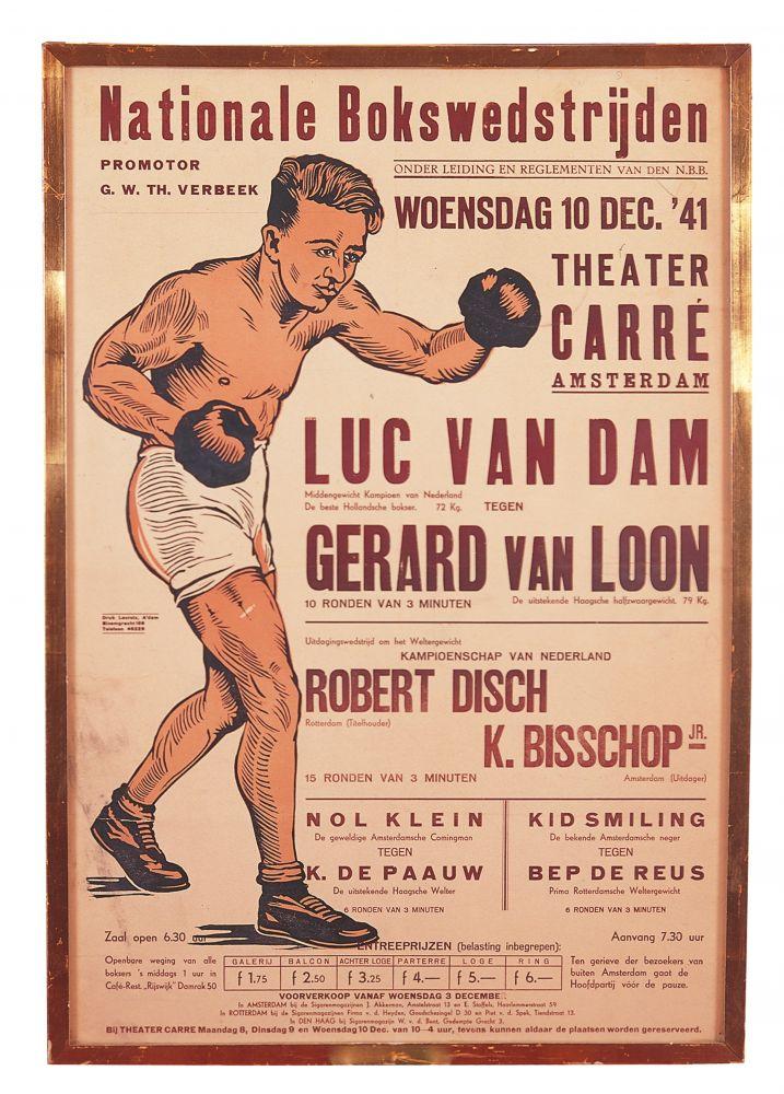 Behalve circus en theater was Carré ook regelmatig het decor van belangrijke bokswedstrijden