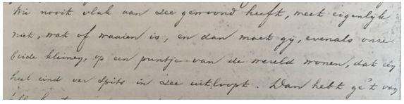 Handschrift van Haverschmidt.