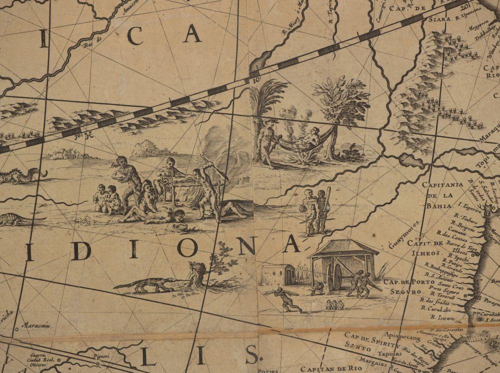 Kannibalen in Zuid-Amerika.