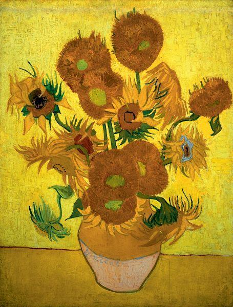 Vincent van Gogh, Zonnebloemen, 1889, olieverf op doek, 95 x 73 cm, Van Gogh Museum Amsterdam. Beeld: Wikipedia.