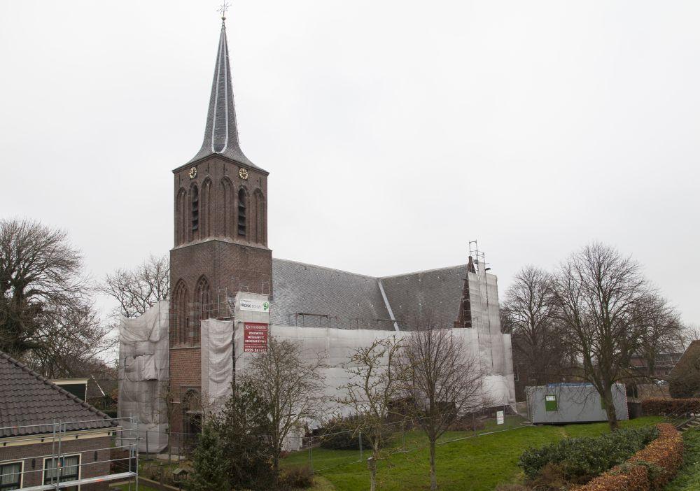 De Martinuskerk in Schellinkhout tijdens de restauratie. Beeld: Jan van Dalen, BOEi